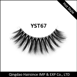 China Soft clear band silk hair lash on sale