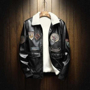 China 2018 new design mens PU leather jacket with Emboridery patch on sale