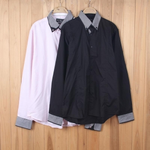 China RL6794-VT555 Mens 100% Cotton Long-sleeved Shirts Stocks on sale