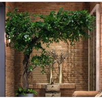 China New style ornamental ficus tree artificial bonsai decorative banyan tree the factory direct price on sale