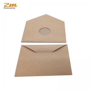 China Wholesale Eco-friendly Cheap Brown Kraft Paper Gift Card Envelope on sale