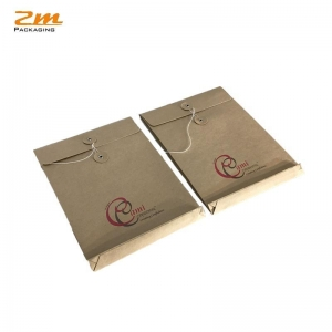China Clothing paper envelope bag packaging kraft paper envelope with string on sale