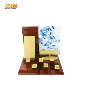 China Jewelry shope used showcase jewelry display , with custom logo and acrylic photo frame on sale