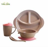 China Kids Biodegradable Wholesale Rice Husk, Bamboo Fibre Tableware on sale