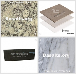 China China Blue Granite Violet Buluomei Grain And Diva Beige Marble Tiles on sale