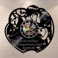 China Steampunk Wall Decor Wall Clock Victorian Industrial Steampunk Gears Vinyl Record Wall Clock on sale