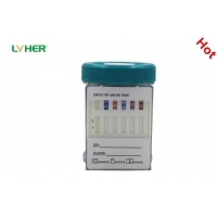 Multiple Drug Urine Test Key Cup Integrated Drug Diagnostic Combo Test Accurate CE