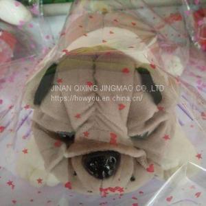 China Stuffed Lion Animal Toys Crane Machine Doll Stuffed Dog Toy on sale