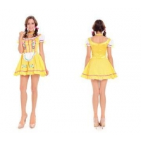 China Sexy Costumes Halloween Beer Yellow Maid Costume M40413 on sale