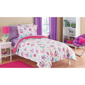China Sophisticated Twin Bed In A Bag At Mainstays Kids Pretty Princess Coordinating Bedding Set on sale