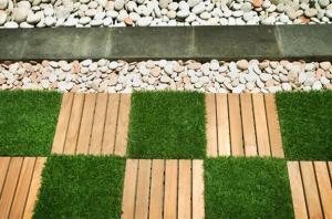 China DIY Artificial Grass Tiles DIY Interlocking Artificial Grass Tiles / Mats on sale