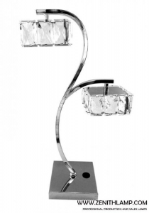 China light series LED table lamp,LED14W*2,4000K,2240LM,crystal ball shade+chrome,L20H47CM---L2202-1T on sale