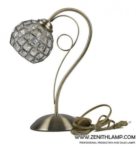 China light series Table lamp,E27,crystal ball shade+antique brass,L24H35CM---56633-T1-AB on sale