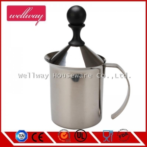China Stainless Steel Hand Pump Milk Frother on sale