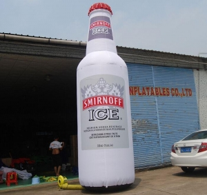 China New Design Promotion Replica Giant Inflatable Bottle for Advertising Beer Ketchup Liquor on sale