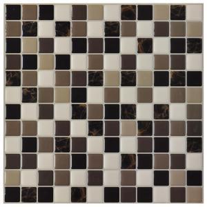 China A17015 - DIY Vinyl Tile Backsplashes for Kitchen, Marble Square, Set of 6 on sale