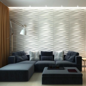 China A21064 - Decorative 3D Wall Panels 24.6x31.5 Wave Board, 6 Tiles 32 SF on sale