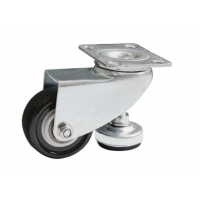 W32 Black Red White Swivel Adjustable Height Casters