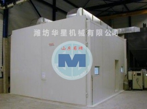 China Mechanical recovery type sandblasting room on sale