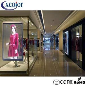 China Transparent Led Display Indoor Building P10 Module Led Light Window Display on sale