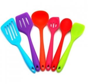 China Colorful Cooking Utensils Set Kitchenware Spoon on sale
