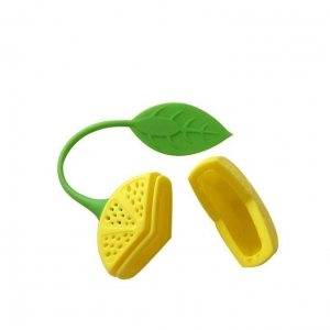 China Hot Sale Strawberry Shaped Safe Infuser Silicone Tea Bag on sale