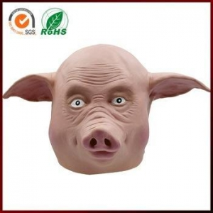 China halloween funny masquerade latex ugly pig mask on sale