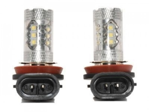 China 8000K Light 80W High Power CREE H11 H8 LED Replacement Bulbs For Fog Lights on sale