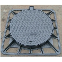 China 850X850mm Square frame & Round cover ductile iron manhole cover Manufacturer