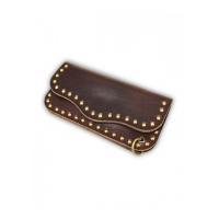 China OGL Leather Wallet OBBI GOOD LABEL WX2 BIG BOSS STUD LEATHER WALLET CIGAR BROWN on sale
