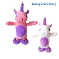 China Talking and walking toys Repeat what you say Unicorn on sale