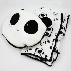 China Panda Throw Pillow With Blanket on sale