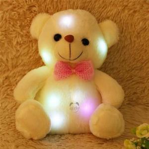China 22CM LED light up plush toy teddy bear on sale