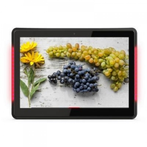 China 13 inch poe power touch android advertising display with LED Light bar on sale