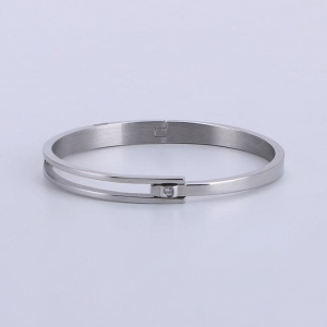 China Simply Men's Women's High Polished Stainless Steel Bracelet Bangle on sale