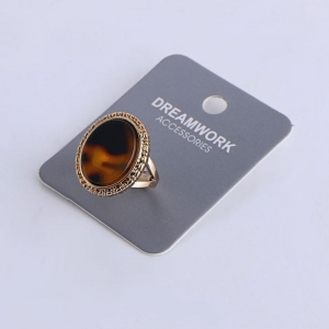 China Vintage Acrylic Ring Retro Jewelry For Women Men on sale