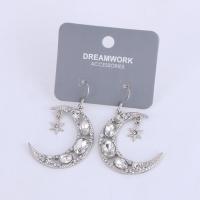 Fashion Shiny Stars Moon Shape Dangle Earringsfor Women
