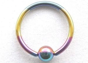 China Ball Closure Rings Titanium Anodized Steel Ball Closure Ring on sale