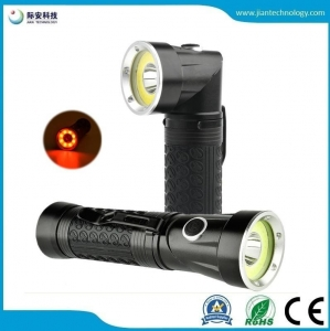 China JFF75 LED Flashlight Handfree 90 Degree Twist Rotary Clip 600lm Waterproof Magnet Mini LED Torch on sale