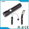 China 3 In 1 T6 COB LED Work Light USB Rechargeable Flashlight 3 Modes Torch Set for sale