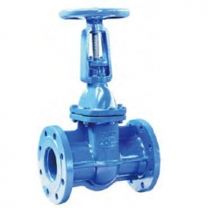 China Gate Valve Cast Iron Rising Stem Solid Wedge Gate Valve DIN3202-F5 PN16 on sale