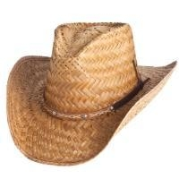 China 2476- Straw Cowboy Hat with Hatband on sale