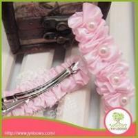 Headband & Hairband Solid Barrettes Pearl girls hair clips