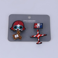 Trendy Girl Aircraft Clothes Medals Brooch