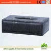 China genuine leather car tissue box cover design for sale