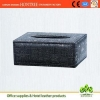 China excellent design retro grain genuine leather tissue box for hotel for sale