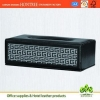 China high quality genuine leather cover tissue box for hotel for sale