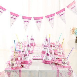China Birthday Party Items Baby Girl Theme Pack on sale