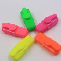 shaped multi colored highlighter marker pen for writing advertising promotion gifts