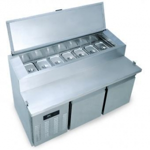 China SCL4 Refrigerated Salad Bar Counter with Work Table on sale